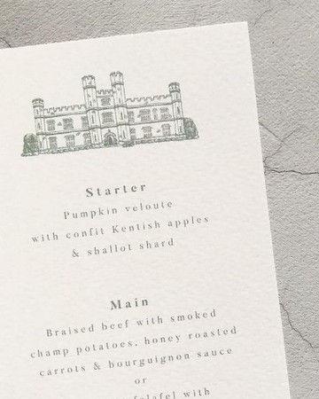 Wedding Venue Illustration Custom Statio