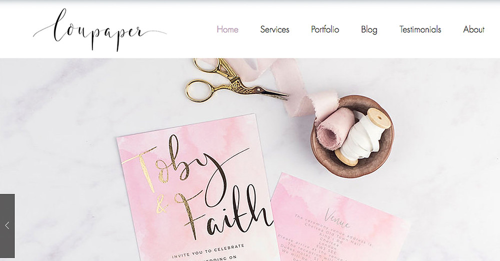 New LouPaper website 2018 wedding invitations calligraphy
