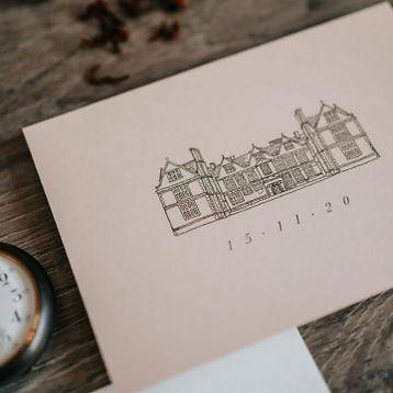 Wedding Venue Illustration Gift Personal