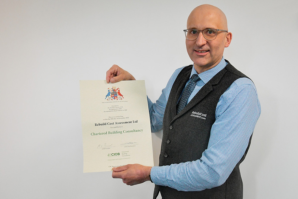 Will Molland holding CIOB Chartered Building Consultancy Certificate