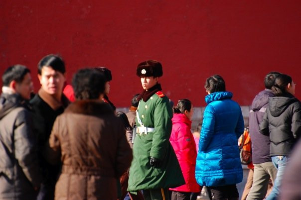 A soldier outside the Forbidden City.jpg