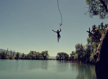 Find the deep end. Jump.