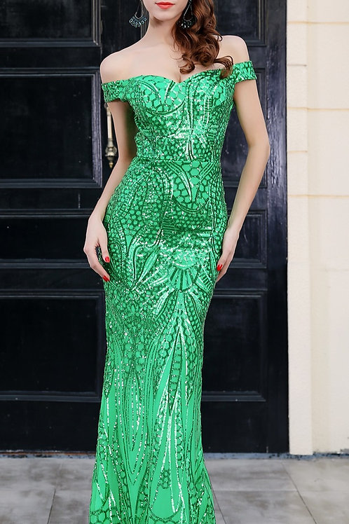 Dinner in Wittingham Sequin Gown