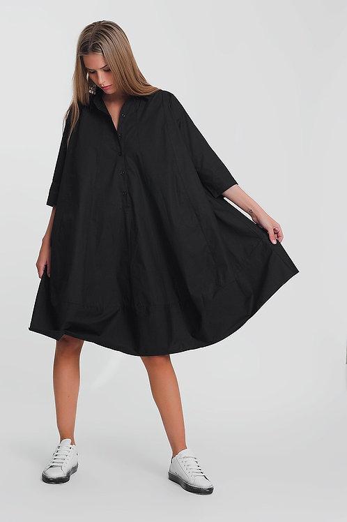 Poplin Oversized Smock Dress