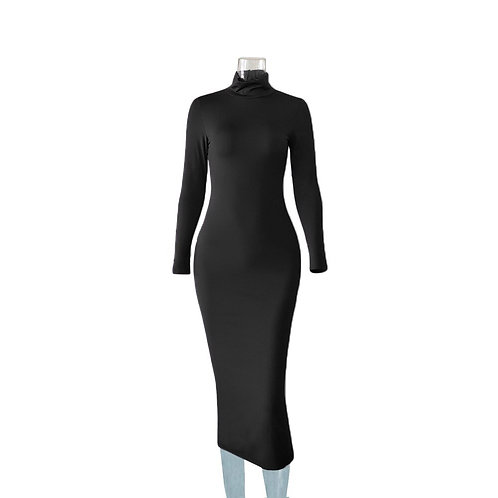 Must Have Bodycon Turtleneck Dress