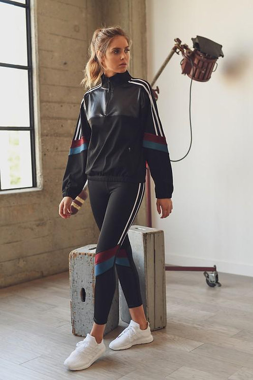 Color Block Half Zip Pullover and Legging Set