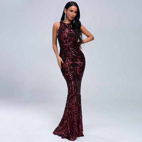 Jacqueline Sequin Sleeveless Gown