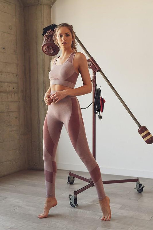 Space Dye Seamless Bra and Legging Set