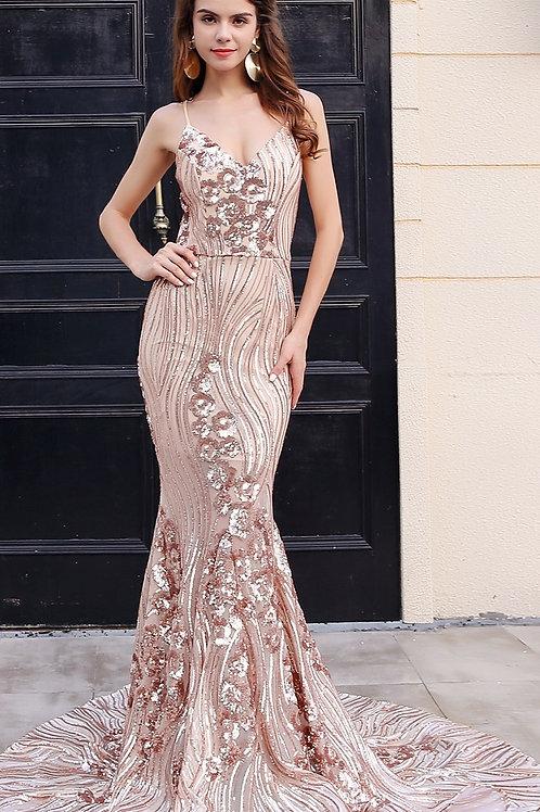 Delalah Evening Gown Sequin