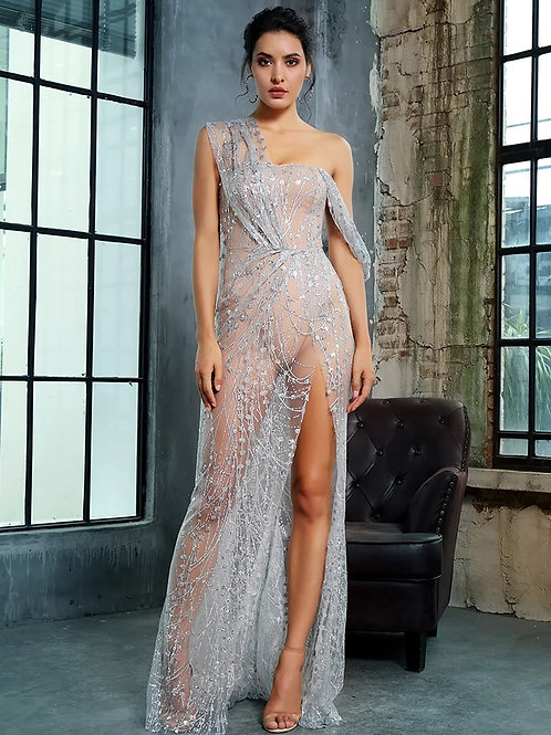 Lady in Distress See Through Gown