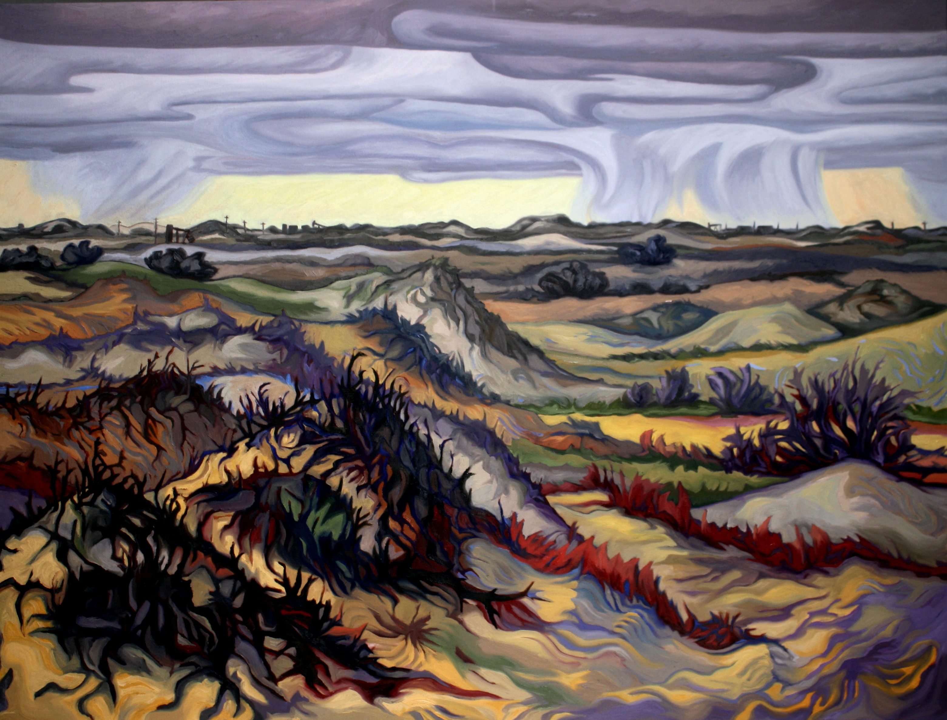 """Rainstorm in the Sandhills"""