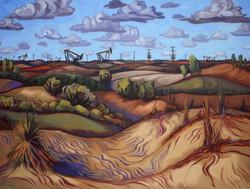 """""""Gulf Oil Field in the Sandhills"""""""