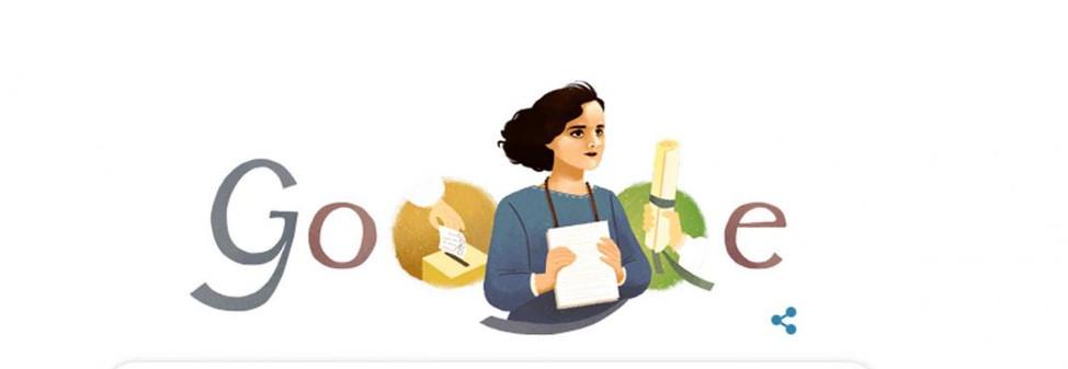 Google rinde homenaje a Matilde Hidalgo