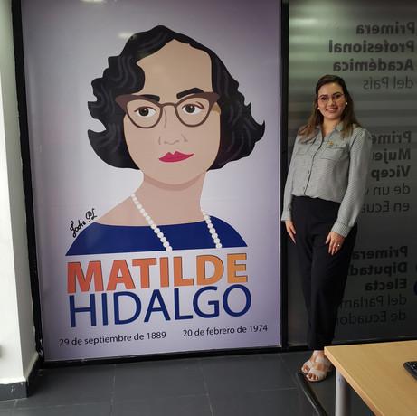 Mural Matilde Hidalgo de Procel