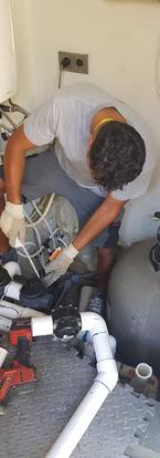 reparatie leidingwerk zwembad pool curac