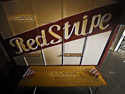 Red Stripe mural