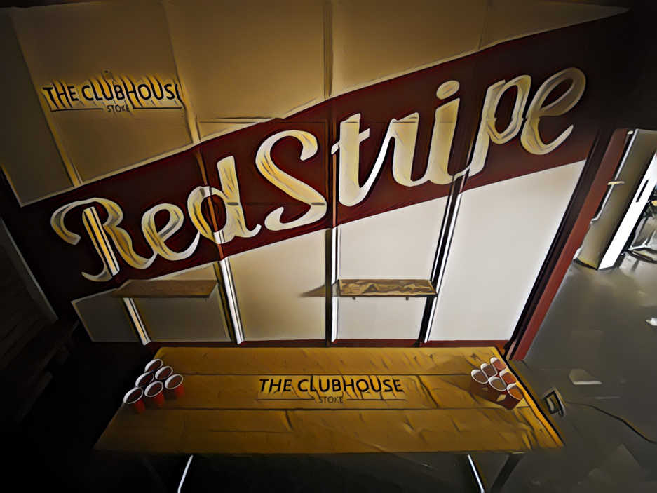 Red Stripe mural