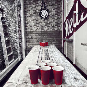 We provide the Beer Pong Cups and balls
