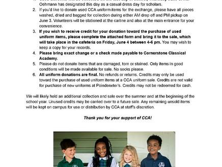 First Annual Uniform Exchange 6/3-4/21