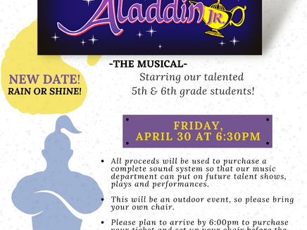 4/30 - NEW DATE! Spring Theatrical Production