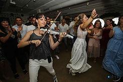 carmit playing on batsheva's wedding