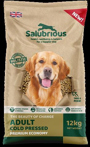 salubrious cold pressed dog food bag