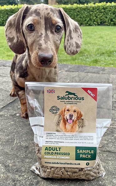 salubrious cold pressed food sample bag