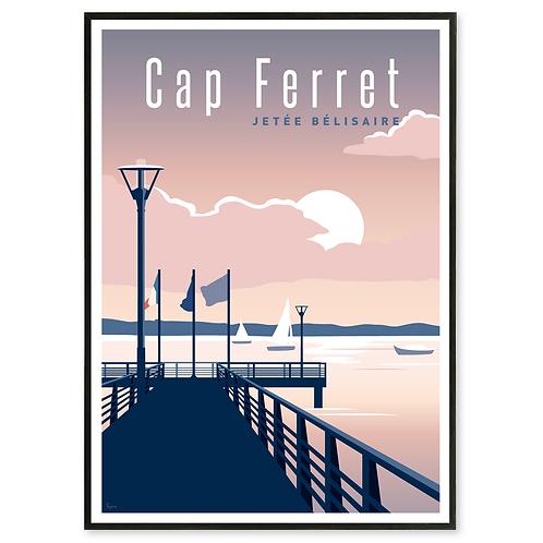 Affiche Cap Ferret, la jetée Bélisaire - Les Affichistes
