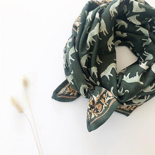 foulard apaches bengale vert kaki