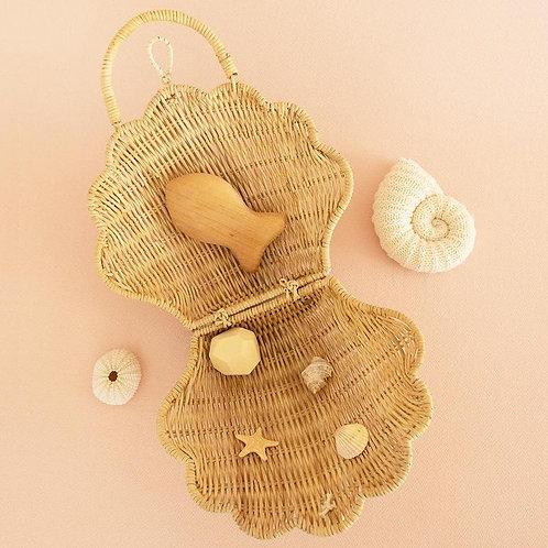 Petit sac coquillage paille - Olli Ella