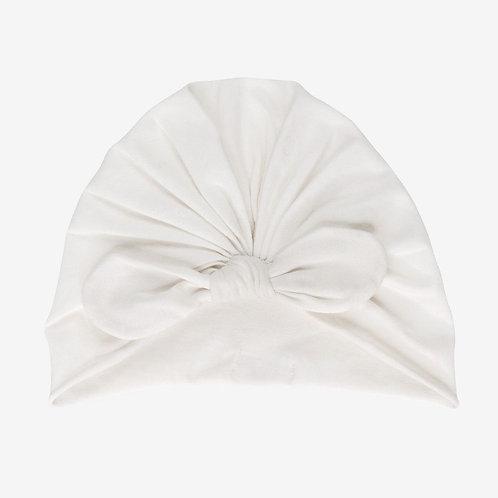 Turban knot beanie Cream