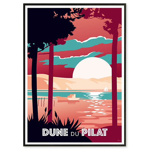 Affiche Dune du Pilat - Les Affichistes