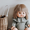 Body à col Colette en gaze beige lurex - Minikane