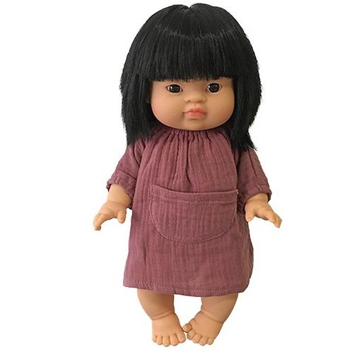 robe Jeanne gaze de coton Minikane rose