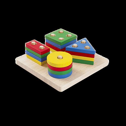 Empilage géométrique - Plan Toys