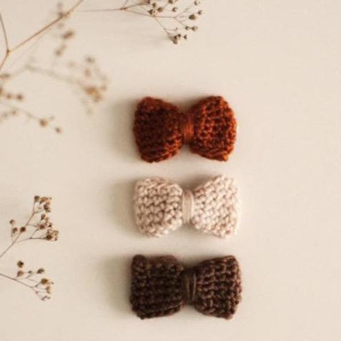 Trio de barrettes tricotées - Gentil Coquelicot