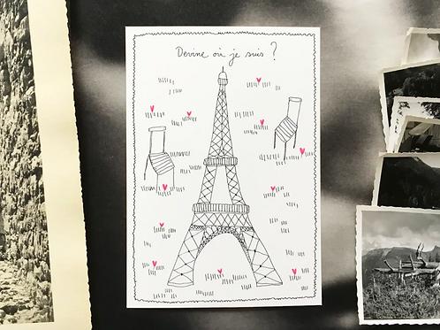 Carte postale 'Tour Eiffel'