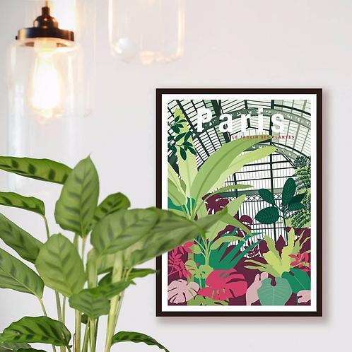 Affiche Jardin des Plantes - Les Affichistes