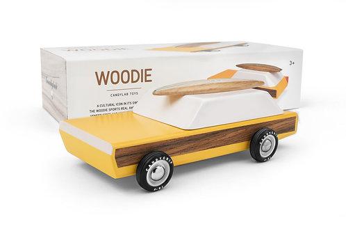 Voiture Woodie jaune - Candylab