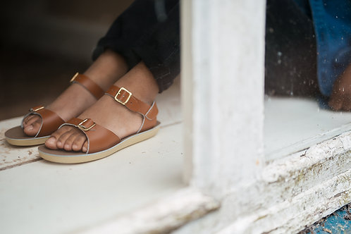 Saltwater sandals surfer tan