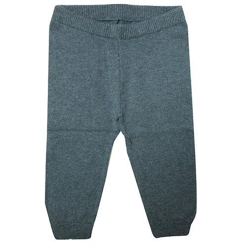 Pantalon fin coton / laine marine La petite Collection