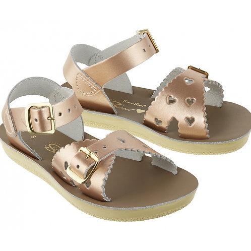 Sweetheart salt water sandals rose gold
