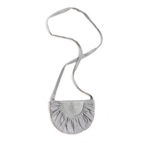 Sac Lune Lin gris paillettes argent - Mouche
