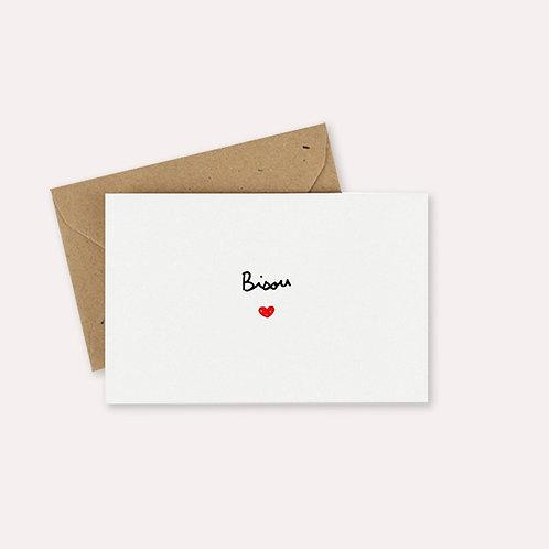Mini carte bisou Mathilde Cabanas