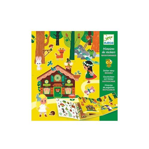 La forêt magique - stickers repositionnables - Djeco