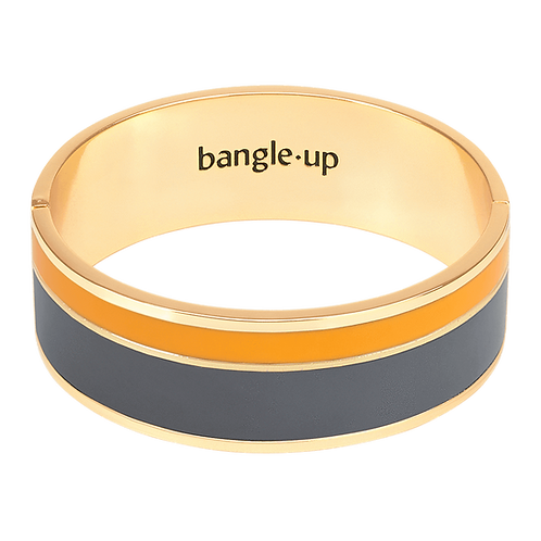 Bracelet Vaporetto - Ardoise / Jaune safran - Bangle Up