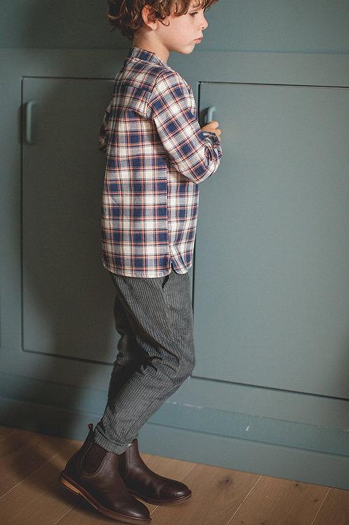 pantalon marlot velours gris