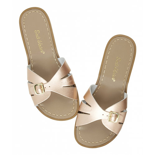 slide rose gold saltwater sandals