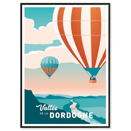 Affiche Vallée de la Dordogne - Les Affichistes