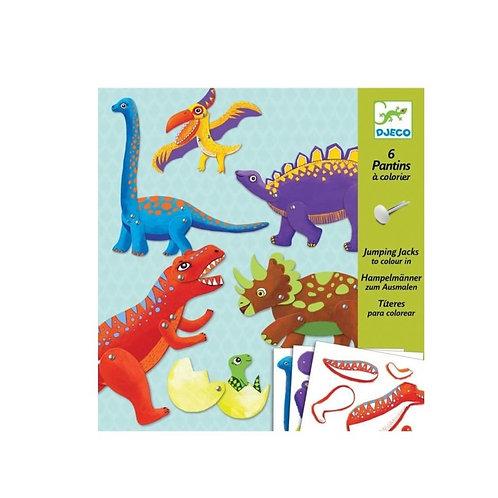 Pantins à créer Dinosaures - Djeco